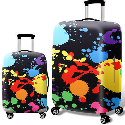 Printed Travel Suitcase Protective Cover Luggage Protector Elastic Dust proof 8