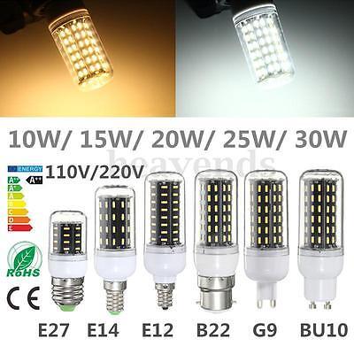 E14 E27 E12 B22 G9 GU10 LED 4014 SMD 10W 15W 20W 25W Glühbirne Lampe Mais Licht