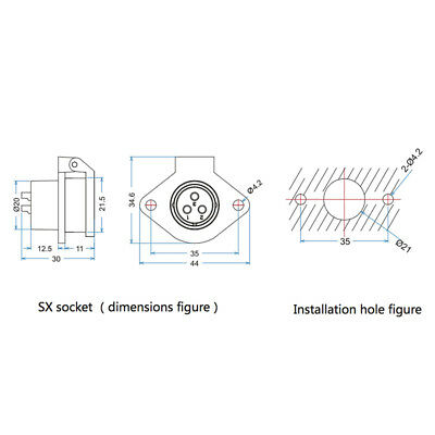 9 Pin Power Signal Connector Male Plug & Female Socket Outdoor Waterproof IP67