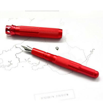 Fuliwen 015 Alumium Fountain Pen Rotating Ruby Pen Top EF/F/M with Pen Bag & Box 9