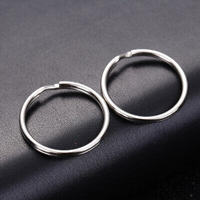 100Pcs Key Rings Chains Split Ring Hoop Metal Loop Steel Accessories 25mm |USA 11