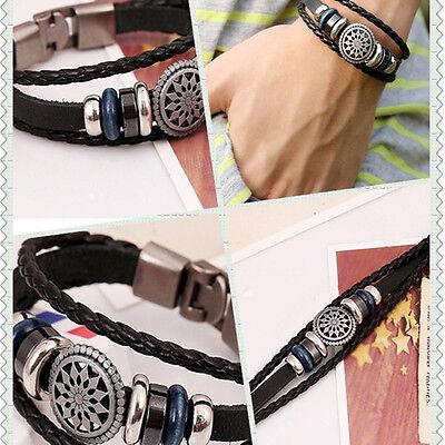 Cool Style Punk Unisex Women Men Wristband Metal Studded Leather Bracelet Cool 2