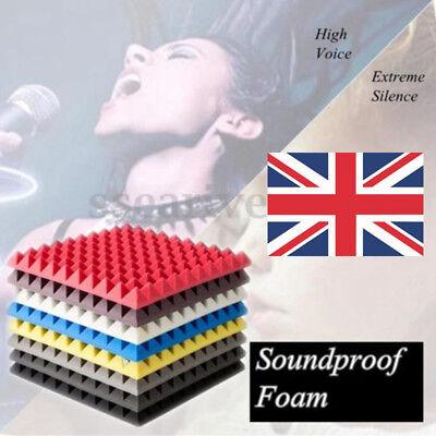 UK 30x30 20pcs Acoustic Panels Tiles Sound Proof Absorption Flame Retardant Foam 2
