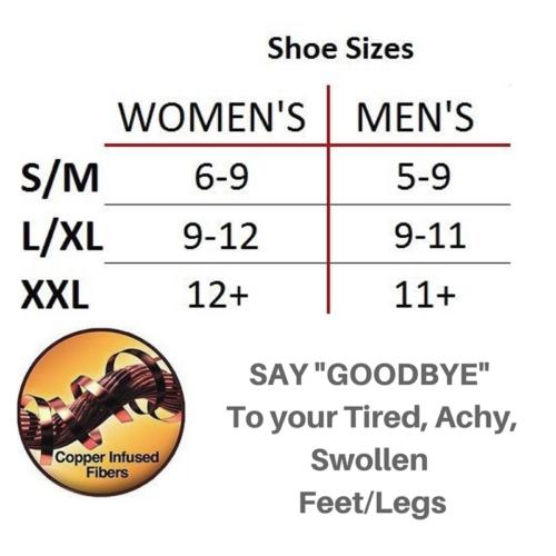 (5 Pairs) Copper Compression Socks 20-30mmHg Graduated Support Mens Womens S-XXL 2