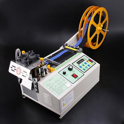 110V US Automatic Computer Control Hot Cold Textile Weave Belt Cutting Machine 2