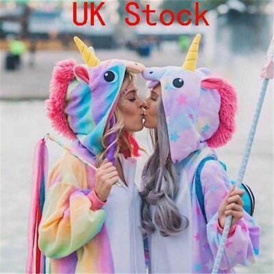 Adult/Child Unicorn Unisex Kigurumi Animal Cosplay Costume 1Onesie Pyjama UK 3