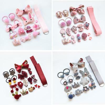 18PCS Baby Girls Head wear Elastic Bow knot Hair Clip Barrette Hairpin Xmas Gift 3