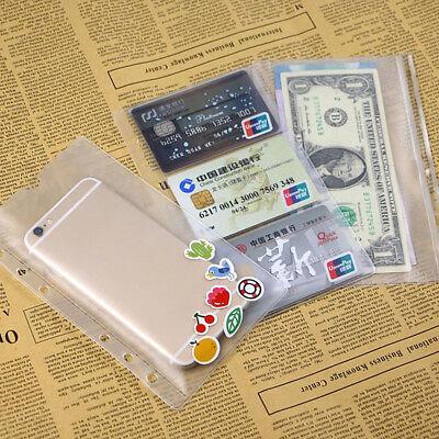 A6 PVC Standard Visitenkarten Mappe Taschen Datei Visitenkartenmappe Transparent