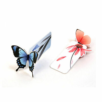4pc Cute Butterfly On Flower Exquisite Paper Bookmarks Book Markers Readers Gift 3