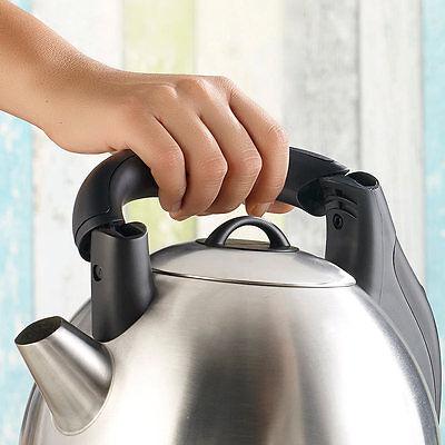 Wasserkocher Retro: XXL-Edelstahl-Wasserkocher WSK-200.mx, 3,8 Liter