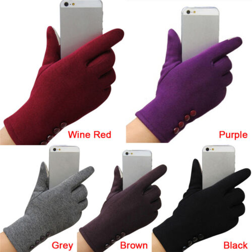 New Womens Touch Screen Gloves Winter Sport Outdoor Warm Leather Gloves 2 HsTEUS 3