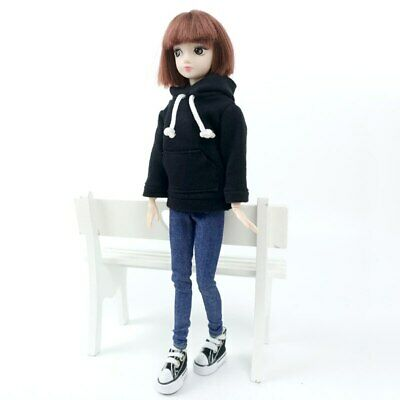 """Fashion Handmade Hoodie For 11.5"""" 1/6 Doll Sweatshirt Outfits Doll Clothes Shoes 9"""