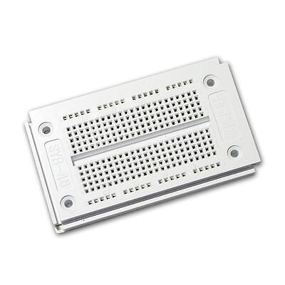 Laborsteckboard WEISS 2x170 Kontakte Experimentier Platine Labor Steckboard
