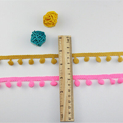 5 Yards Trim Pom Pom Lace Trim Fringe Ribbon DIY Apparel Mini Tassel Ball