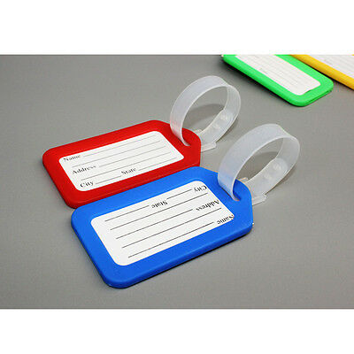 3pcs Travel Luggage Bag Tag Name Address ID Label Plastic Suitcase Baggage Tags 6