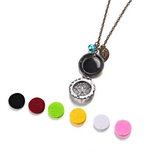 Mat 6 pads Locket collier parfum aromathérapie huile essentielle diffuseur pend*