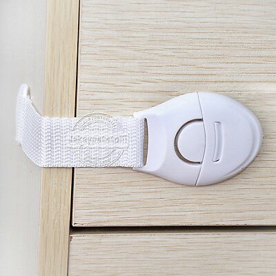 10 x Child Baby Cupboard Cabinet Safety Locks Proofing Door Drawer Fridge Kids 5