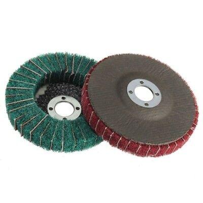 120/240 *Grit Nylon Fiber Flap Wheel Disc 100mm Abrasive Polishing Buffing Pad