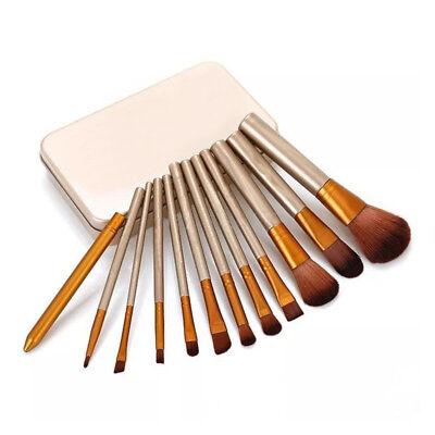 12pcs KABUKI PROFESSIONAL Make up Brushes Set Powder Foundation Blusher + Case 3