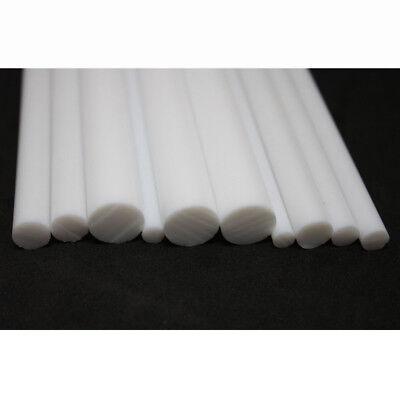 White PTFE Round Rod Bar Stick 5mm 6 8mm 10mm 12mm Dia 100/200/300mm Long 9