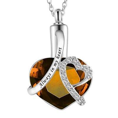 Urn Necklace Cremation Jewellery Ashes Pendant Locket Keepsake Memorial Funeral 5