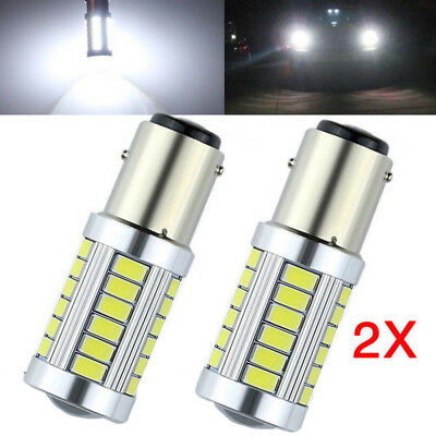 2PCS Bianco BA15D 33SMD LED 1157 Auto Coda Freno Stop Coda Lampadina Globo 12v 2