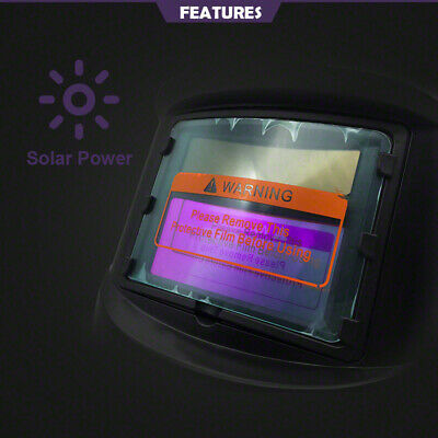 New Brand Pro Solar Auto Darkening Welding Helmet Arc Tig Glossy Black Mask 4
