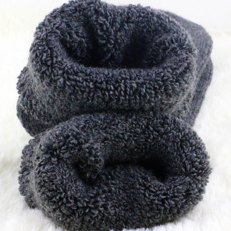 4Pairs Mens Wool Cashmere Warm & Soft Comfort Large Winter Thick Dress Socks 5