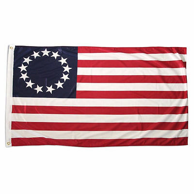 2 Pack 3x5 ft. 100% Polyester Sharp and Vivid Color Outdoor USA Betsy Ross Flag 2