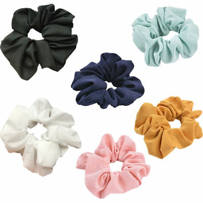 Girls Lady Pure Color Trendy Hair Ring Elastic Bobble Sports Dance Scrunchie IL 4