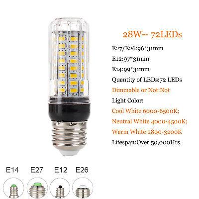 E27 E14 B22 LED Mais Birne 5730 SMD 9W 12W 15W 20W 25W 30W 35W Helle weiße Lampe 9