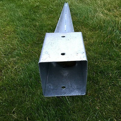 heavy duty galvanised bolt down fence post spikes 6
