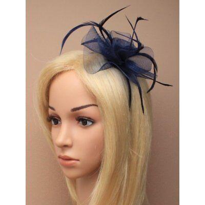 Feather Looped Headband Alice Band Fascinator Ladies Day Wedding Royal Ascot 15 8