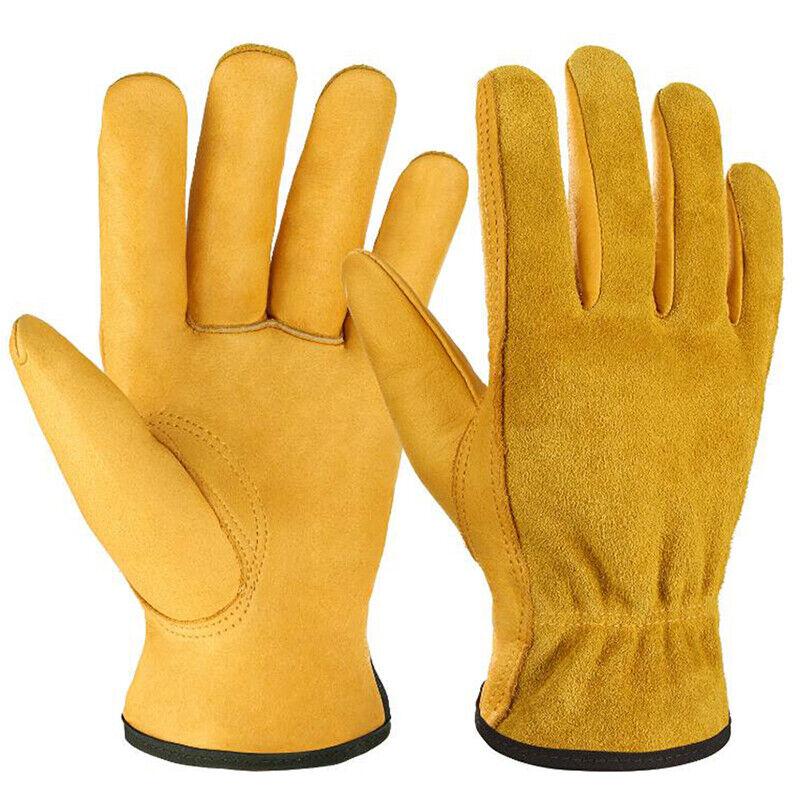 Heavy Duty Gardening Gloves Thorn Proof Leather Work Gloves Waterproof 2