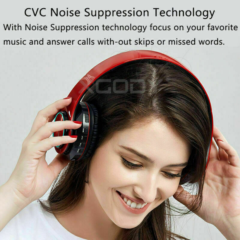 Wireless Headphones Stereo Bluetooth Headset Noise Cancelling Over Ear With Mic 4
