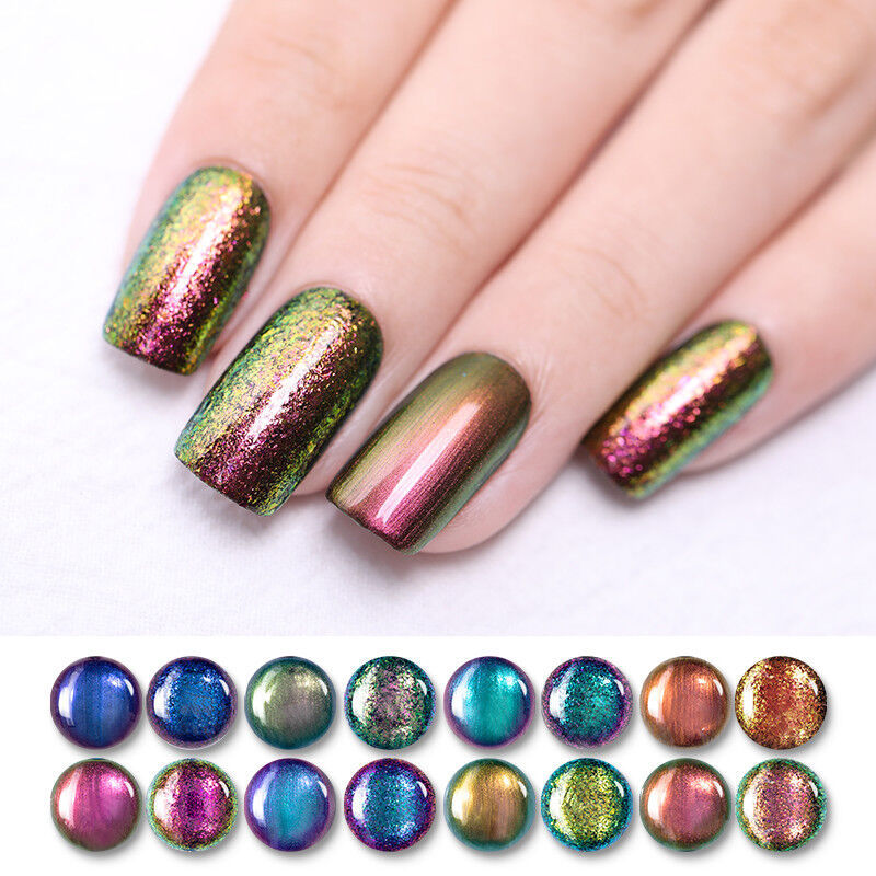 BORN PRETTY 6ml Magic Nail Polish Chameleon Glitter Holographic Nail Art Varnish 7