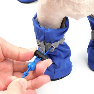 4Pcs/set Dog Boots Shoes Anti Slip Waterproof Puppy Rain Pet Small Cat Pet Socks 5
