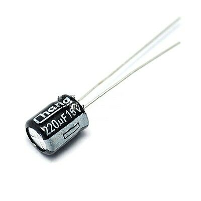 20PCS 220uF 16V 220MFD 16Volt SMD Electrolytic Capacitor 6.3mm×7.7mm NEW