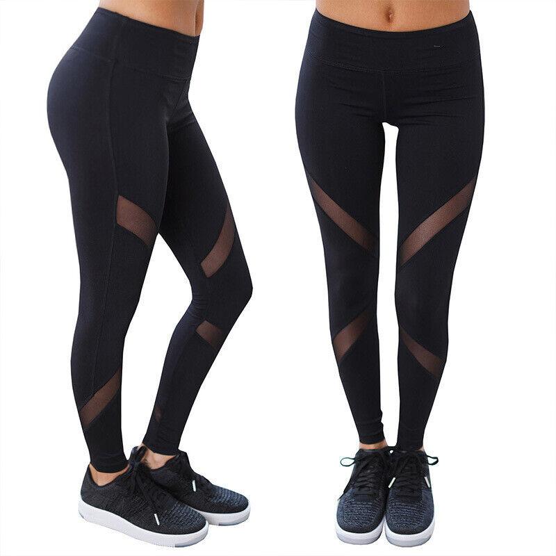 Damen Leggings Stripe Sport Yoga Fitness Leggins Legging Jogginghose Hose SMLXL 9