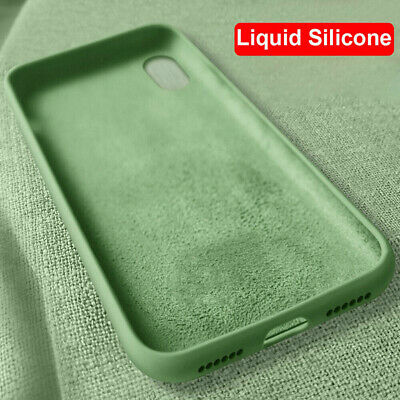 For iPhone 11 Pro Max XS XR 8 7 6s Plus Liquid Silicone Simple Color Case Cover 6