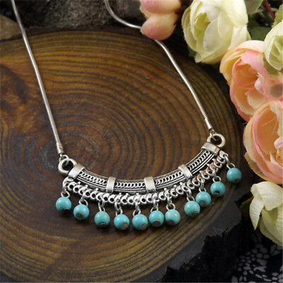 20 style Vintage Women's Tibetan Silver Turquoise Beads String Pendant Necklace 6