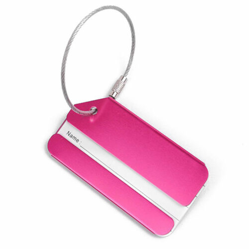 New 1PC Aluminium Luggage Tag Suitcase Label Name Address ID Bag Baggage Tag Hot 8