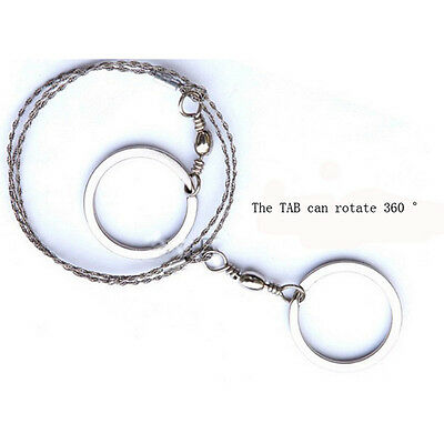 Stainless Steel Ring Wire Hiking Camping Saw Rope Outdoor Survival Emergency