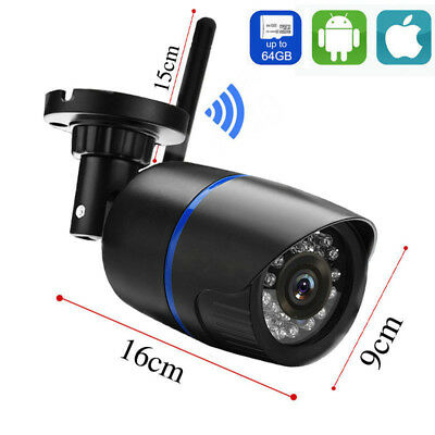 Security Wireless WIFI IP Camera 1080P Outdoor IR built-in TF card slot-yoosee 6