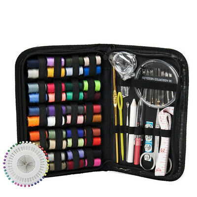 128x Home Travel Sewing Kit Thread Threader Needle Tape Measure Scissor Thimble 2