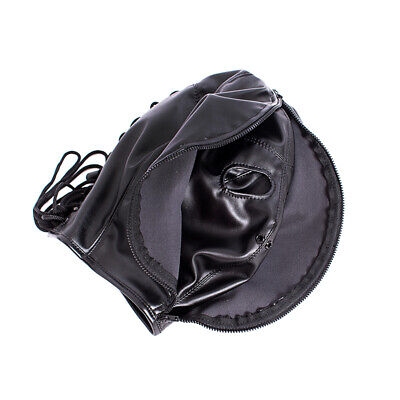 PU Leather Slave Restraint Head Mask Fetish Hood Zipper BDSM Sexy Adult Bondage 4