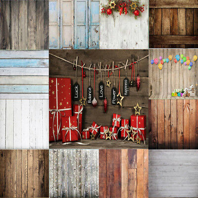 Photo Backdrops Vinyl Wooden Floor Photography Background For Newborn Kid Xmas