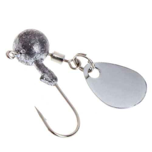 2g 4g Fishing Barbed Collar Lead Head Jig Hook with Sequin Carp Bait Lure Tackle 4