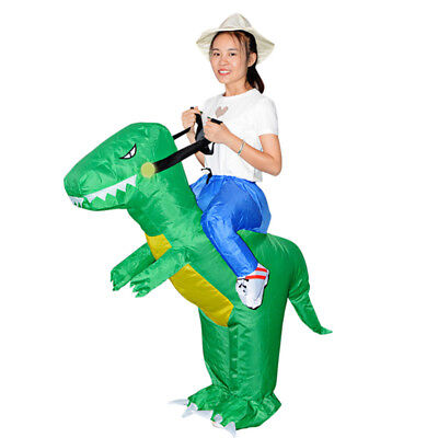 6 of 12 childrenadult inflatable t rex dinosaur halloween costume fancy dress outfit