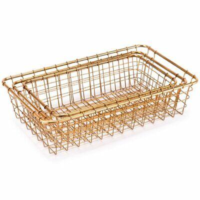 Zuo 3 Piece Basket Set in Gold 3